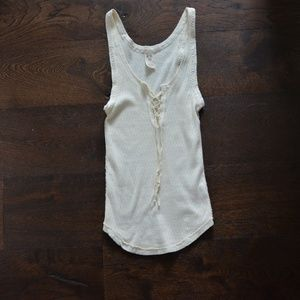 Free People We The Free Ivory & Lace Tank Size S